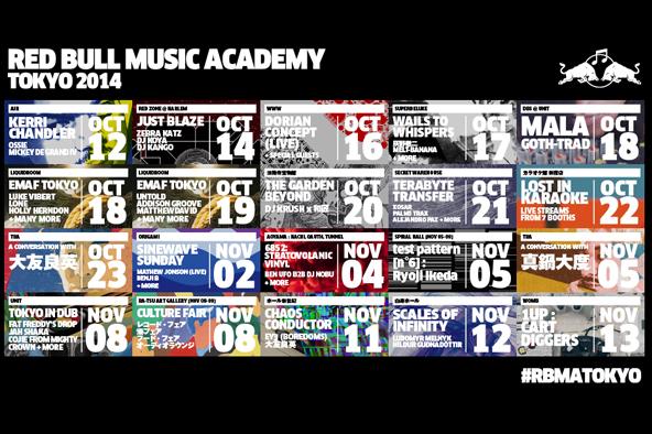 豪華アーティストが目白押し!<br /> 〈レッドブル・ミュージック・アカデミー〉<br /> 開催プログラムを一挙公開!